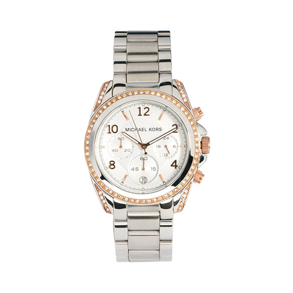 Blake Silver And Rose Gold Dial Stainless Steel Ladies' Watch