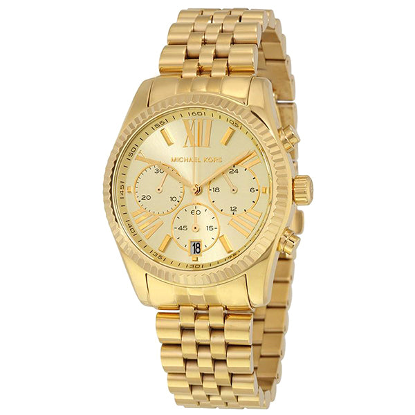 Lexington Chronograph Gold Dial Gold PVD Ladies Watch