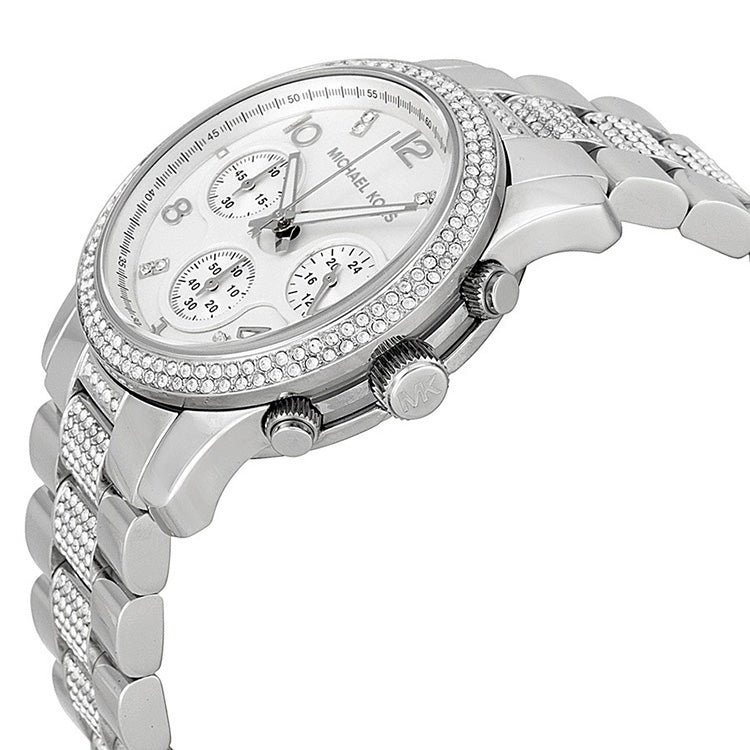 Runway Glitz Stainless Steel Chronograph Ladies Watch