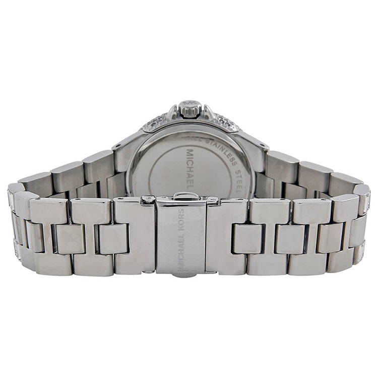 Camille Silver Crystal Pave Stainless Steel Ladies Watch