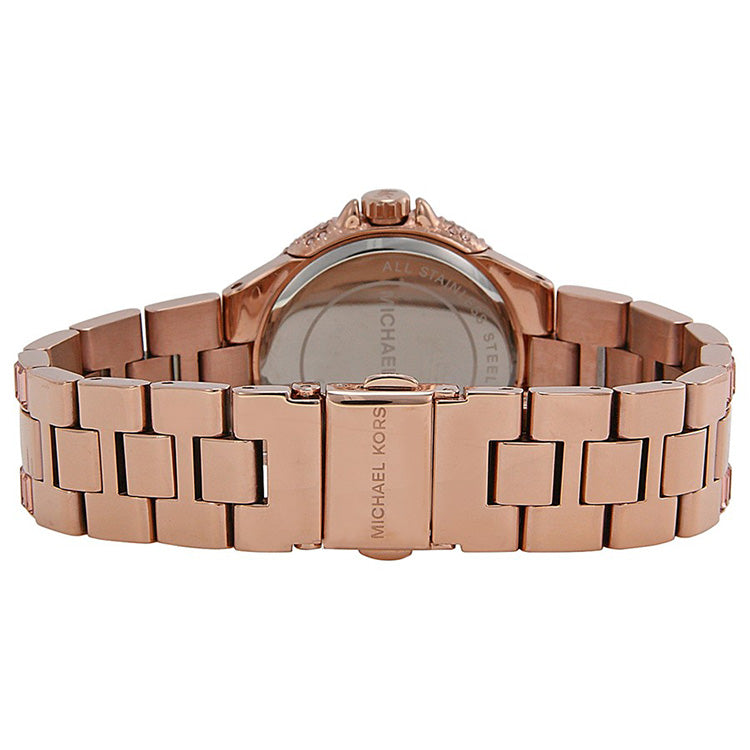 Camile Rose Crystal Pave Rose Gold-tone Ladies Watch
