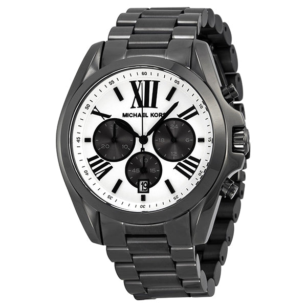 Bradshaw Chronograph White Dial Gunmetal Ion-plated Men's Watch