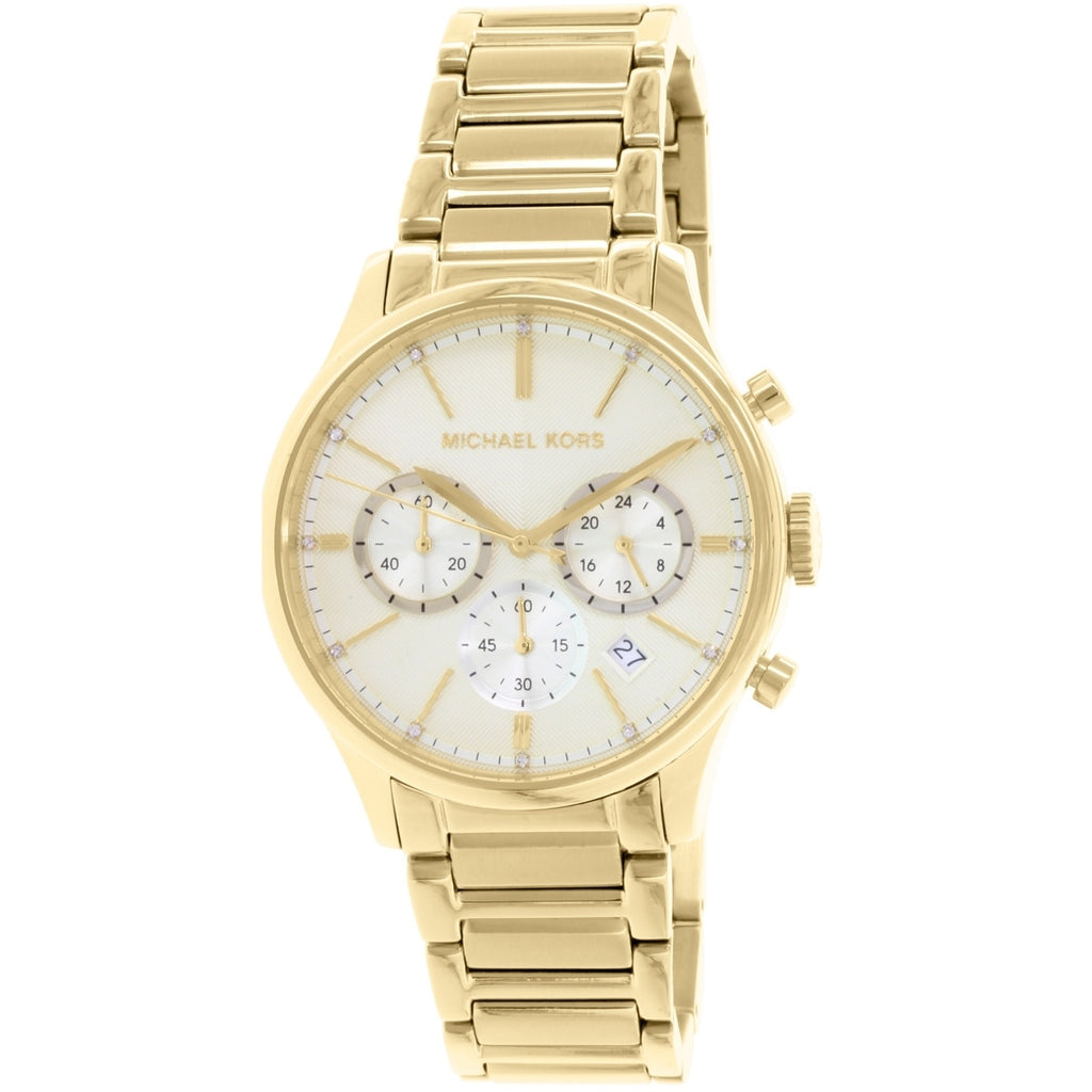 Bailey Gold Tone Stainless Steel Chronograph Ladies Watch