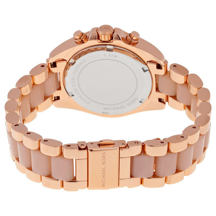 Bradshaw Mini Chronograph Rose Dial Rose Gold-tone Ladies Watch