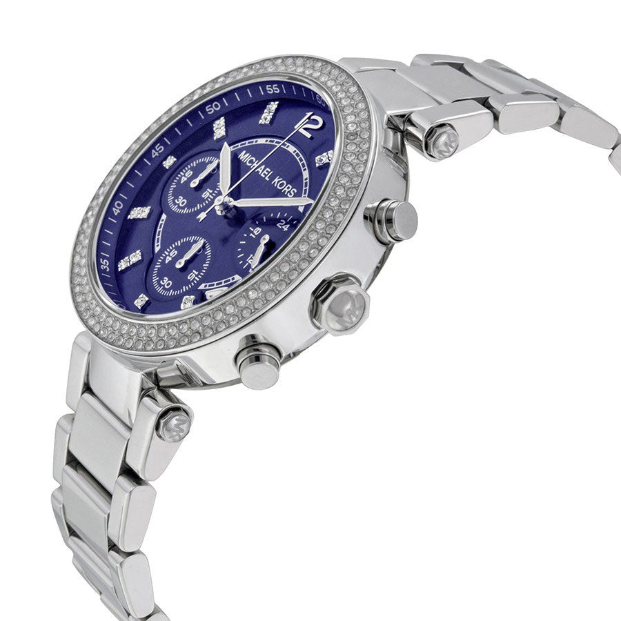 Parker Chronograph Navy Dial Stainless Steel Ladies Watch
