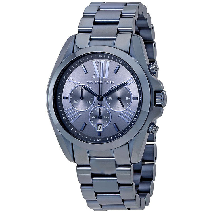 Oversized Bradshaw Navy Blue Dial Men's Chronograph Watch