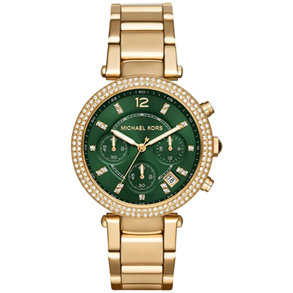 Parker Green Dial Gold Tone Ladies Watch