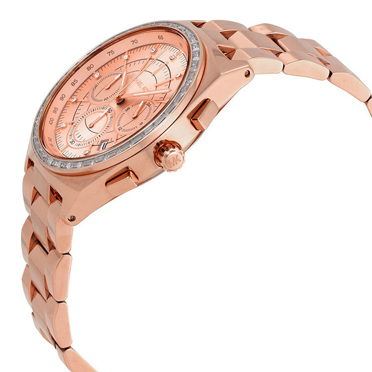 Vail Rose Gold Dial Ladies Chronograph Watch