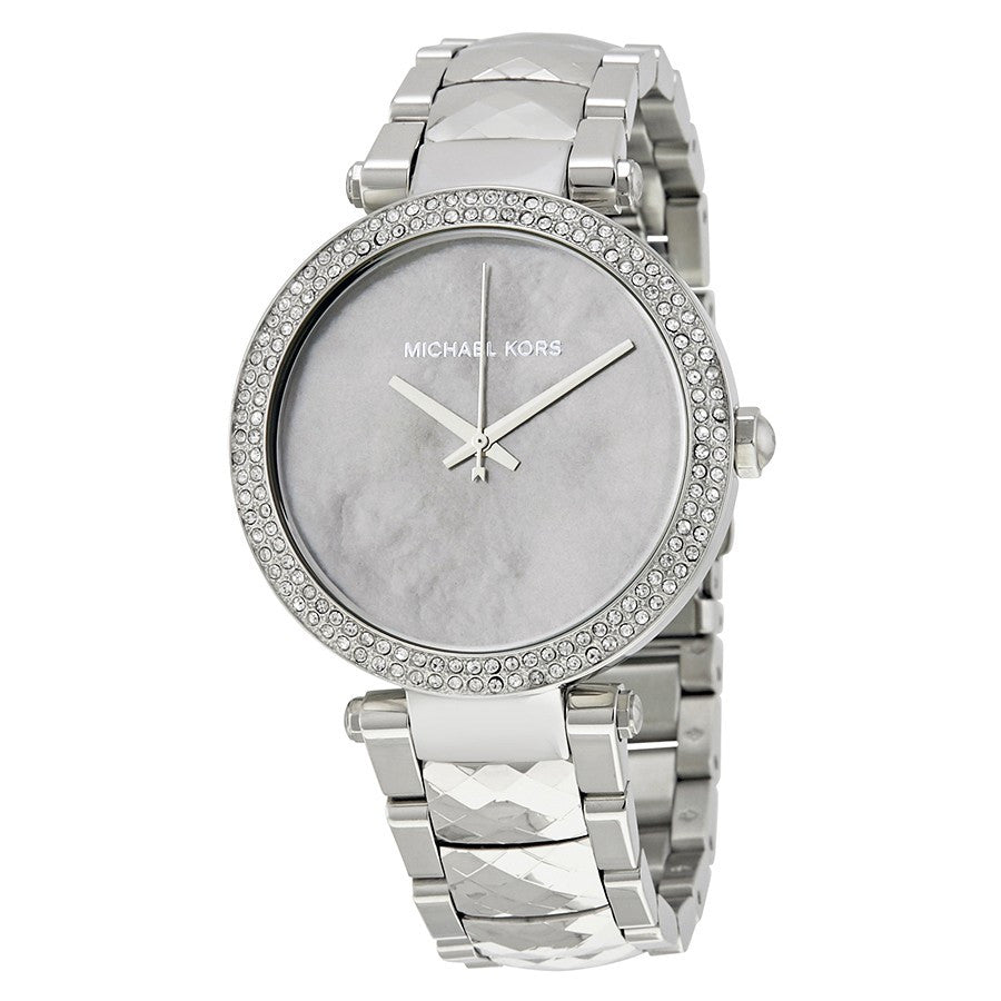 Parker Mother Of Pearl Dial Silver Tone Ladies Watch