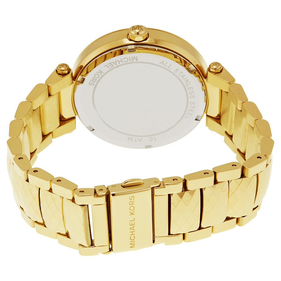 Parker Mother Of Pearl Dial Gold Tone Ladies Watch