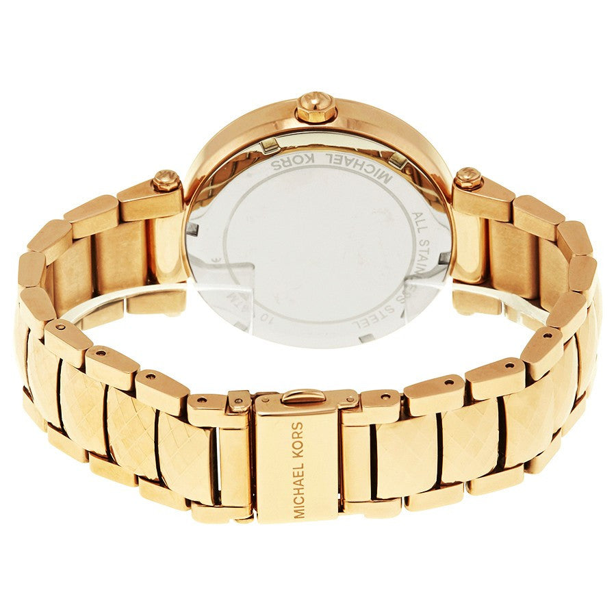 Parker Mother Of Pearl Dial Rose Gold Tone Ladies Watch