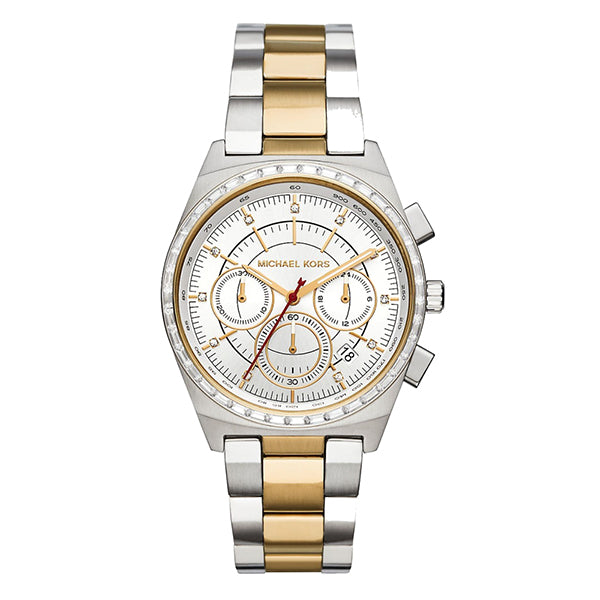Vail Chronograph Glitz Two Tone Stainless Steel Ladies' Watch
