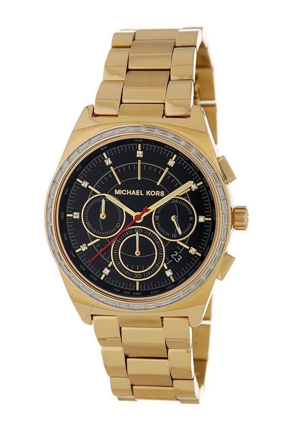 Vail Chronograph Glitz Gold Tone Stainless Steel Ladies' Watch