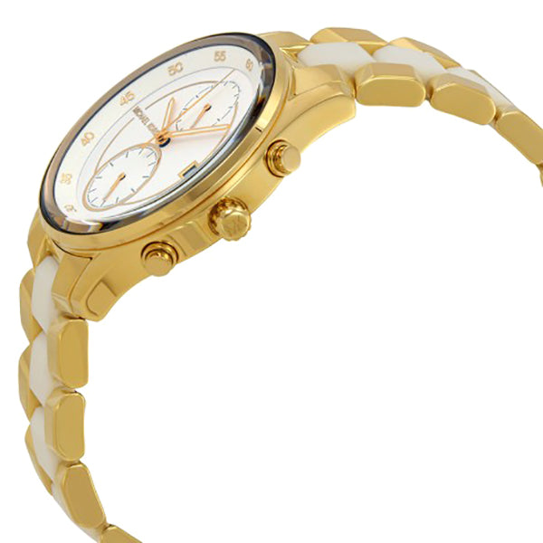 Briar White Dial Ladies Gold Tone Multifunction Watch