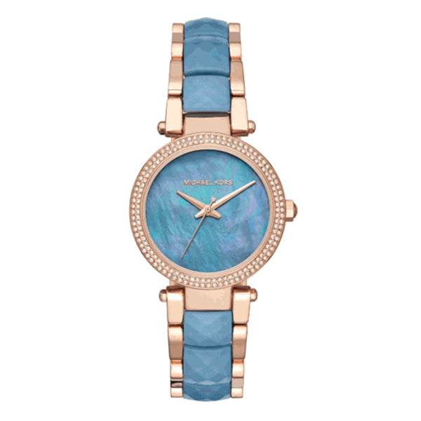 Parker Blue Mother Of Pearl Dial Ladies Watch