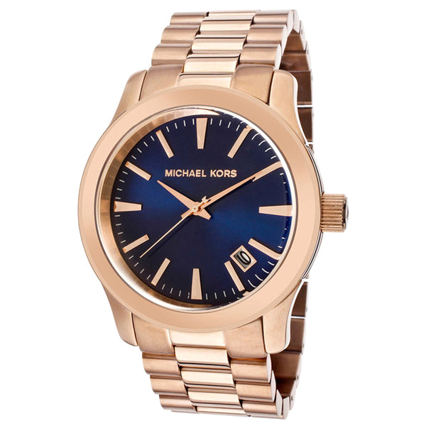 Runway Blue Dial Rose Gold-tone Men's Watch