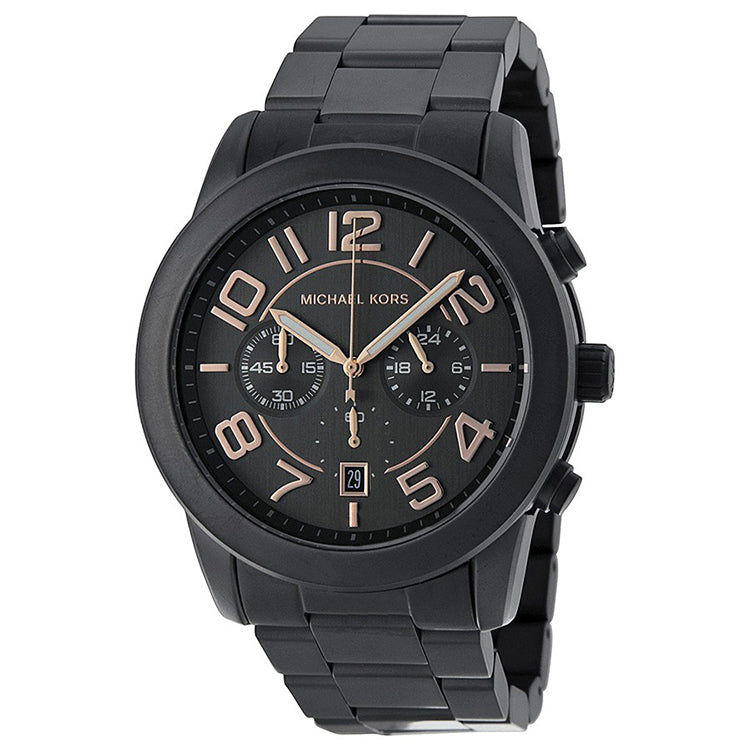 Mercer Chronograph Black Dial Gunmetal Ion-plated Men's Watch