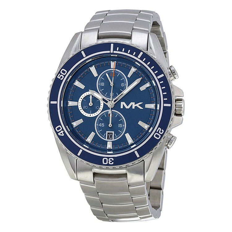 JetMaster Chronograph Blue Dial Stainless Steel Men's Watch