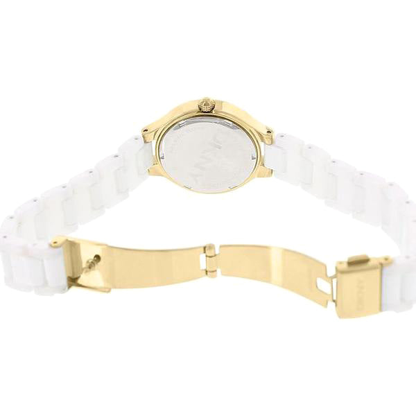 Chambers White Dial Gold Ceramic Ladies Watch
