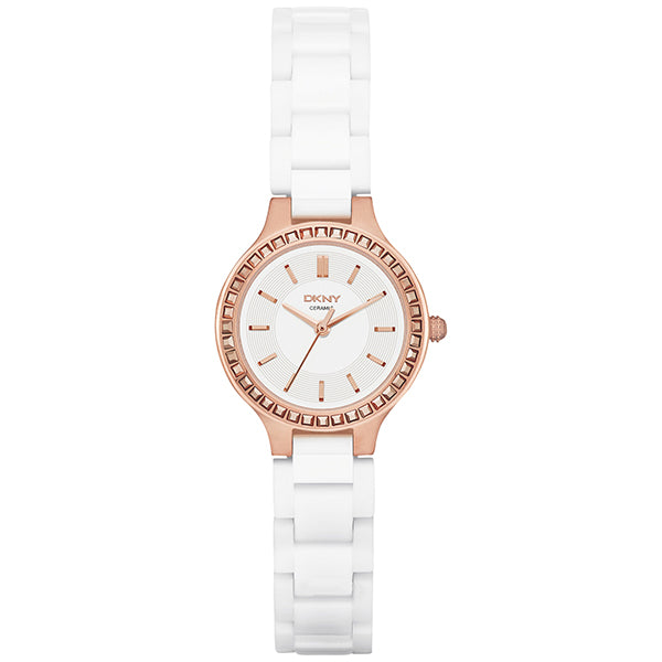 Chambers White Dial White Ceramic Ladies Watch