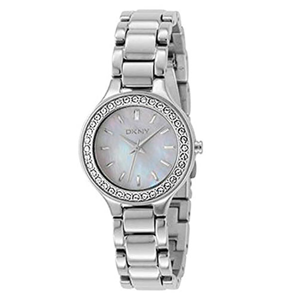 Mother-of Pearl Dial Steel Ladies Watch