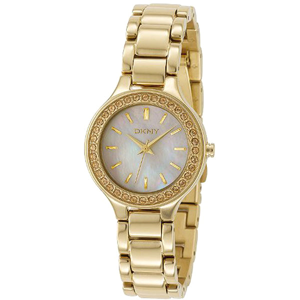 Mother-of Pearl Dial Gold-tone Ladies Watch