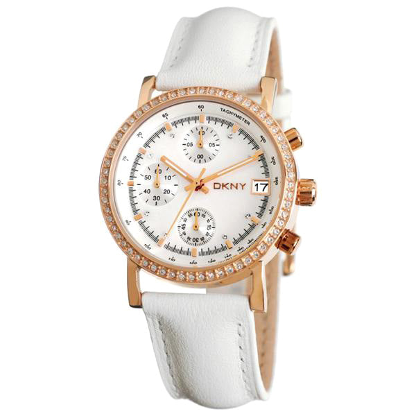 Glitz Gold tone Chronograph Ladies Watch on Leather Strap