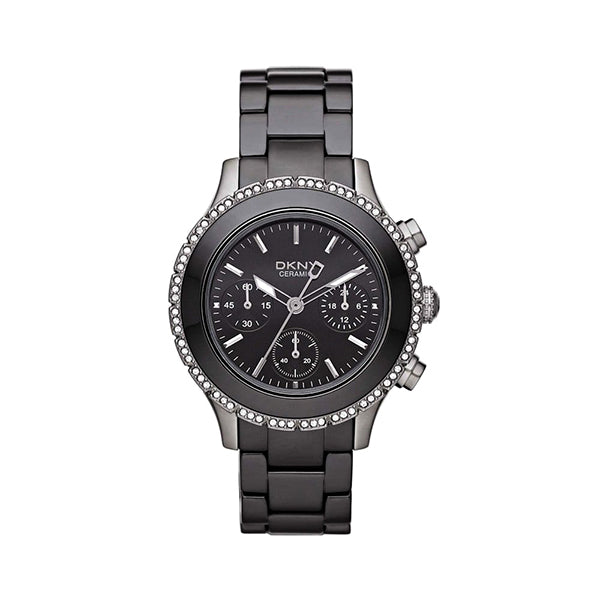 Black Ceramic Chronograph Ladies Watch