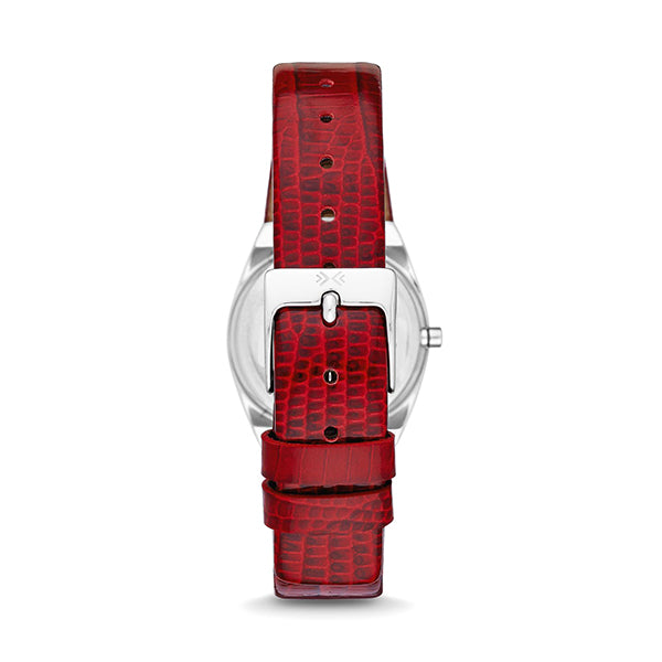Red Leather Strap Ladies' Watch