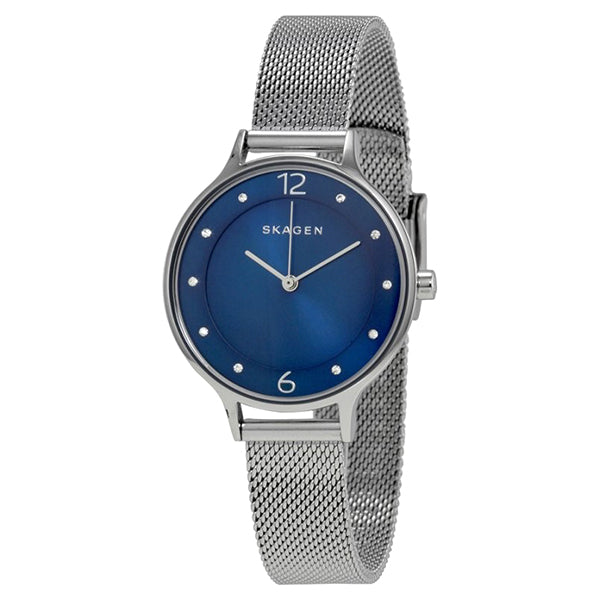 Anita Blue Dial Stainless Steel Mesh Ladies Watch