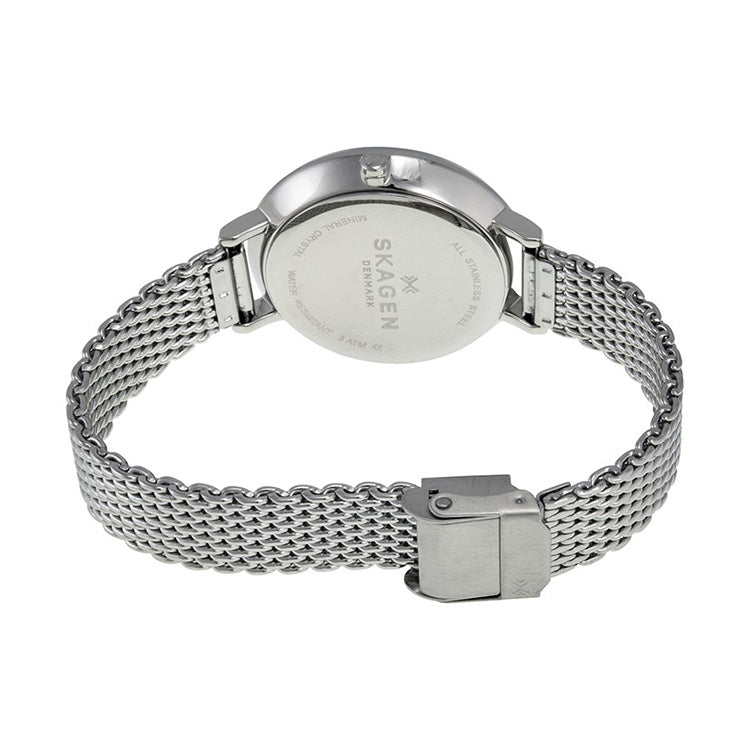 Ditte Silver Dial Stainless Steel Mesh Bracelet Ladies Watch