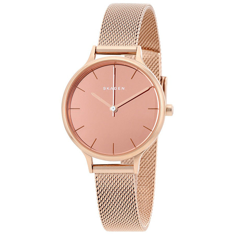 Anita Mirror Pink Dial Ladies Dress Watch