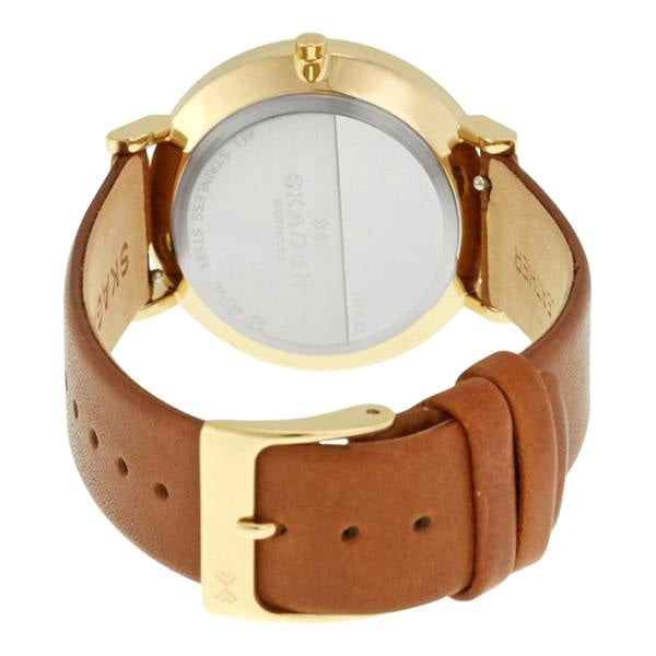 Hald Silver Dial Brown Leather Ladies Watch