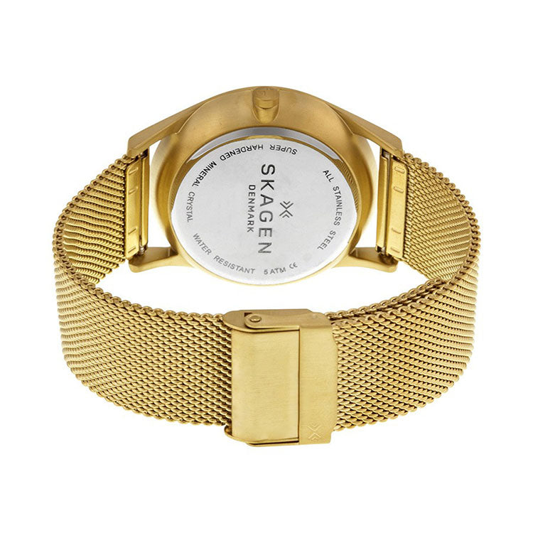 Holst Multi-Function Silver Dial Gold-tone Mesh Unisex Watch