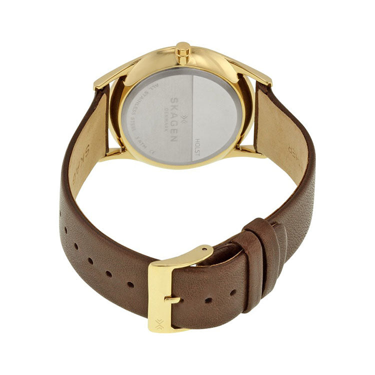 Holst Silver Dial Brown Leather Ladies Watch