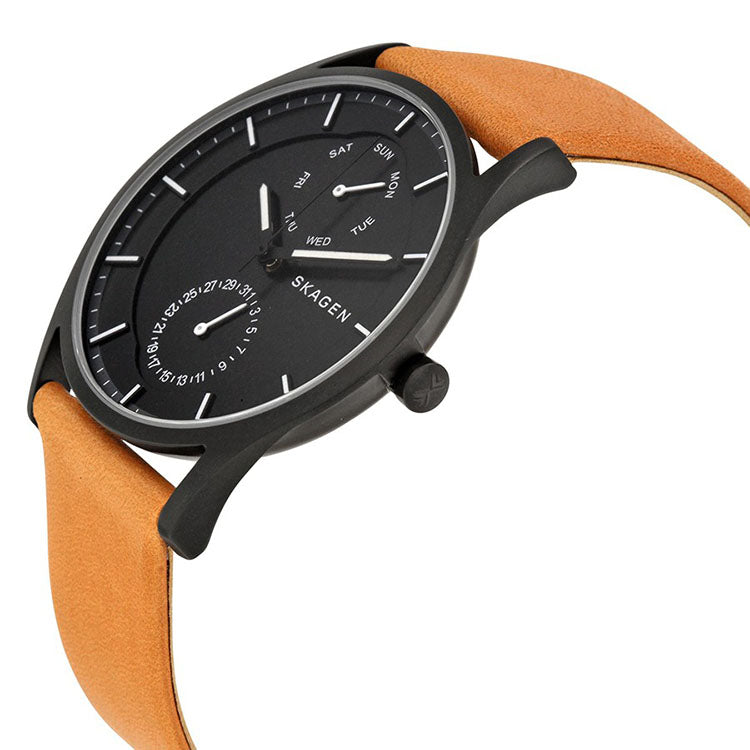 Holst Multifunction Black Dial Brown Leather Men's Watch