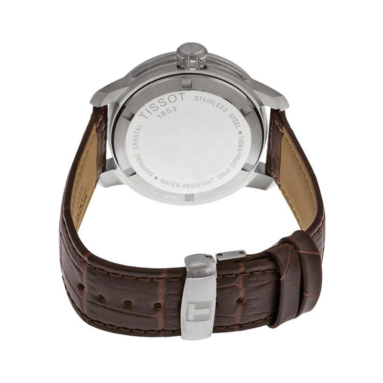 PRC 200 Quartz Silver Dial Brown Leather Sport Men's Watch