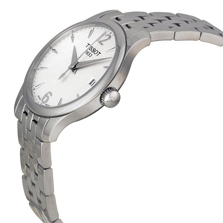 Tradition Silver Dial Stainless Steel Ladies Watch