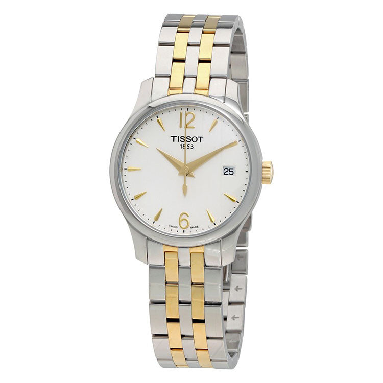 Tradition White Dial Two-tone Stainless Steel Ladies Watch