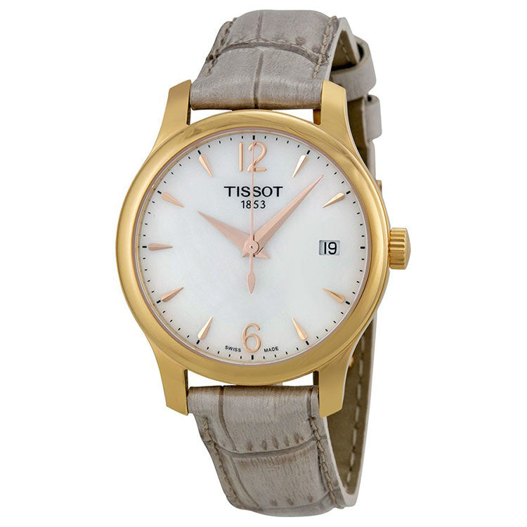 T-Trend Tradition Mother of Peal Grey Leather Ladies Watch