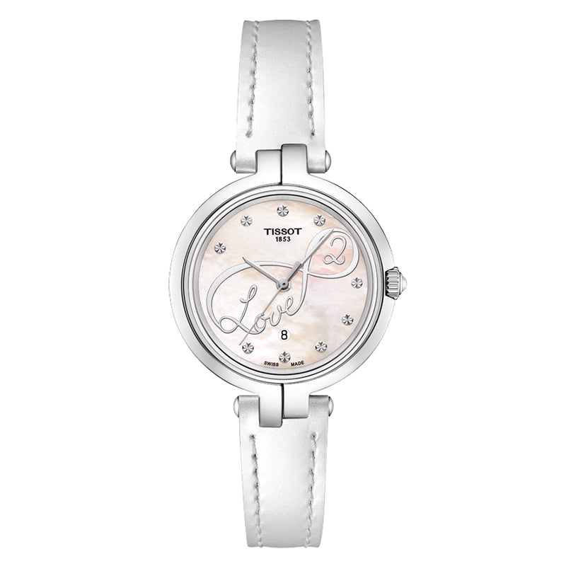 Flamingo White Mother Of Pearl Dial Ladies Watch
