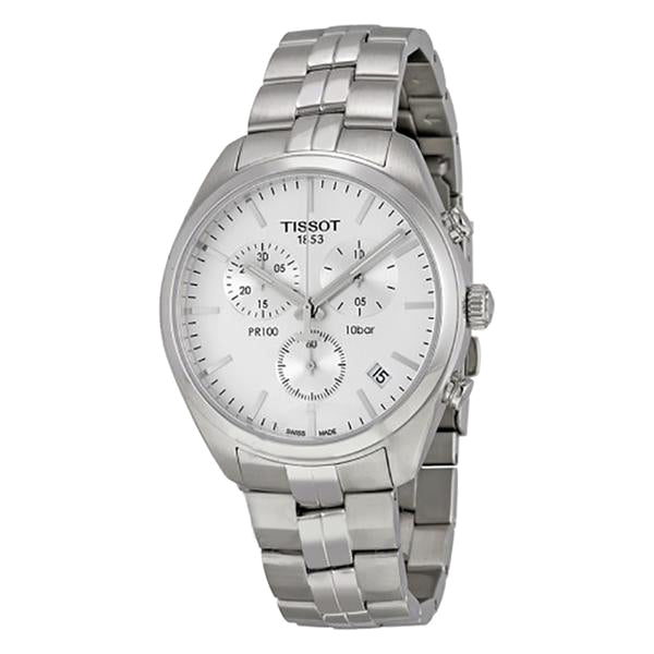 PR 100 Chronograph White Dial Men's Watch