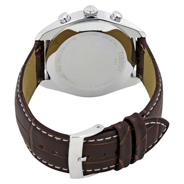 PR100 Chronograph Silver Dial Brown Leather Men's Watch