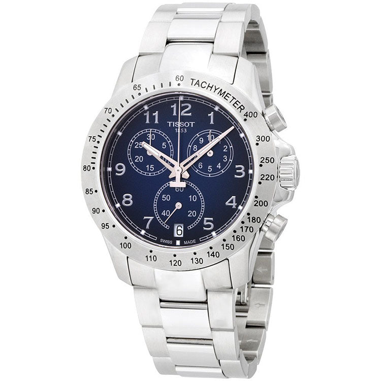 V8 Blue Dial Chronograph Stainless Steel Men's Watch