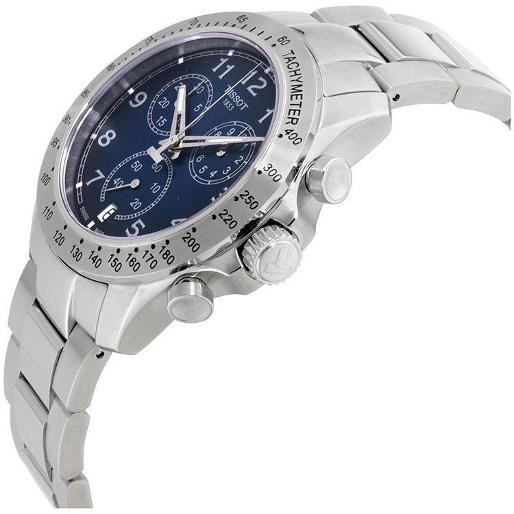 V8 Blue Dial Chronograph Stainless Steel Men S Watch