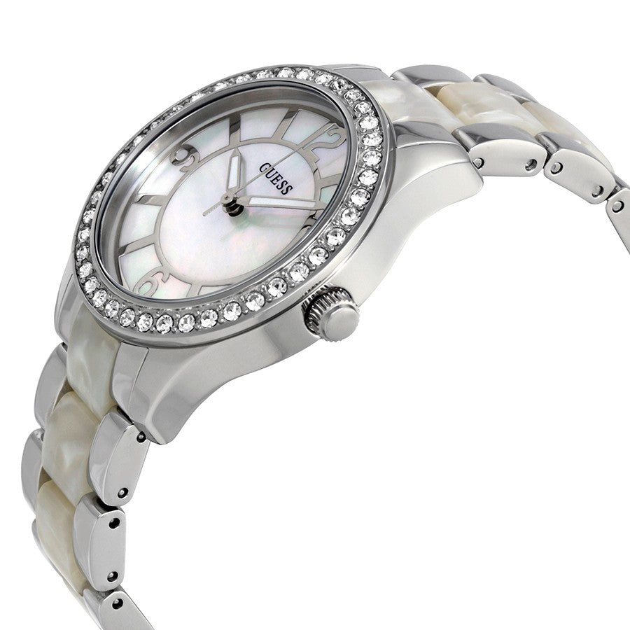 Goddess Mother Of Pearl Dial Ladies Crystal Watch