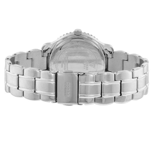 Crystal-paved Stainless Steel Ladies Watch