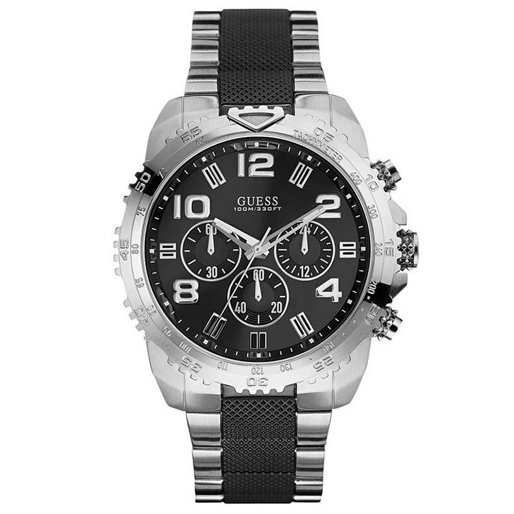 Velocity Black And Silver Tone Men's Chronograph Watch