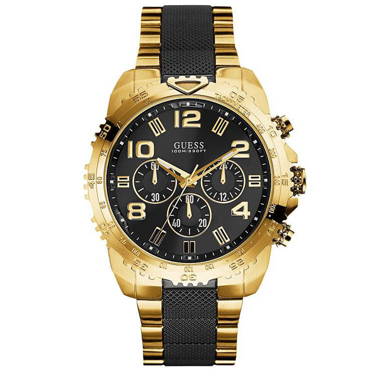Velocity Black And Gold Tone Men S Chronograph Watch