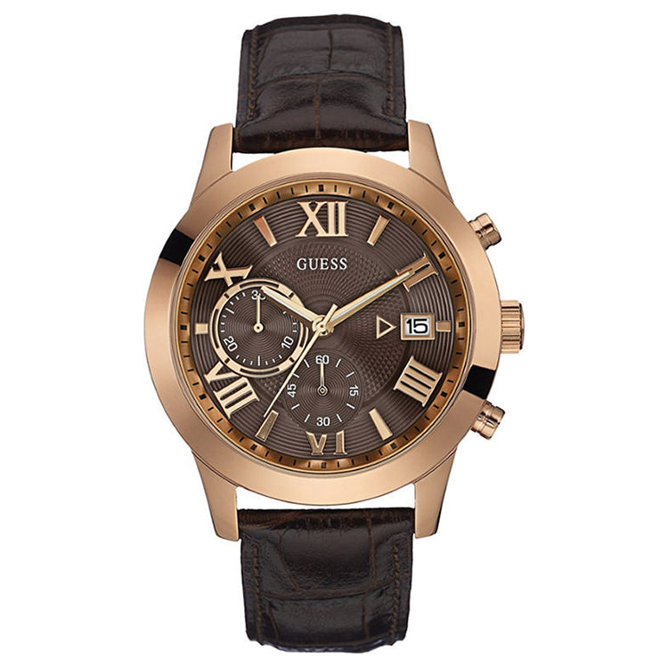 Atlas Multi-Function Brown Dial Men's Watch